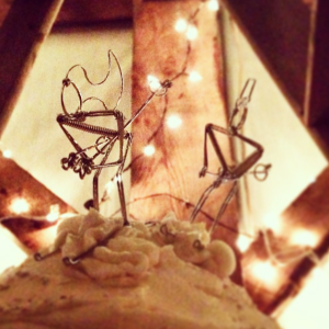 Emily & Matt's cake toppers are the best!